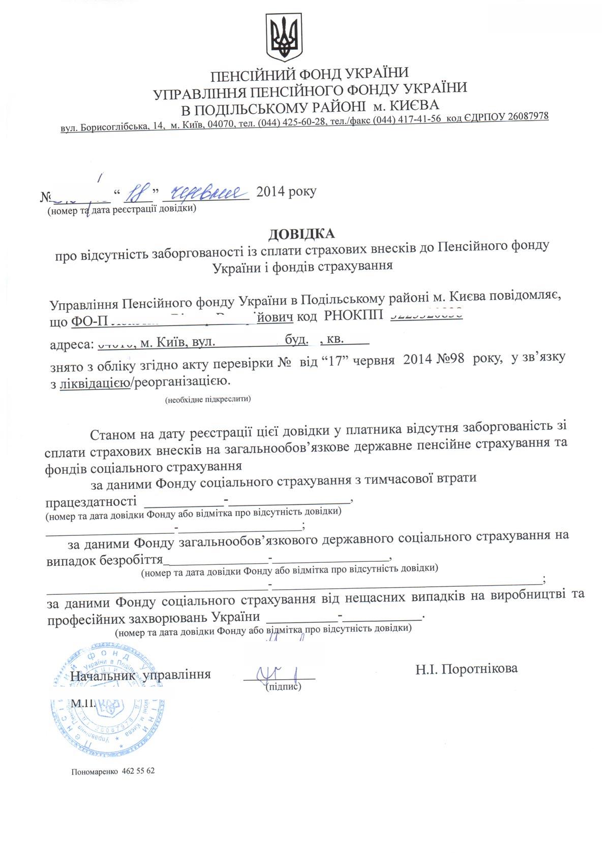 Заявление на закрытие предпринимательской деятельности